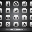 Medical icons set isolated on grey background. EPS 10. — Stok Vektör