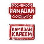 Stamp of Ramadan or Ramadan Kareem. EPS 10. — Stock Vector