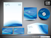 Professional corporate identity kit or business kit with artisti — Vector de stock