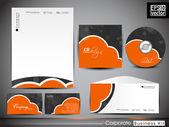 Profesionální firemní identity kit nebo obchodních kit s artisti — Stock vektor