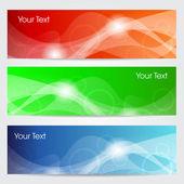 Website banner or header set. EPS 10. — Stock Vector