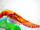 Indian Flag wave background. EPS 10. — Stock Vector