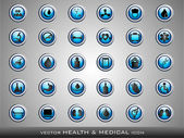 Medical icons set on grey background. EPS 10. — Stock Vector