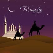 Ramadan kareem oder ramazan kareem-hintergrund. eps 10. — Stockvektor
