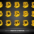 Medical icons set on grey background. EPS 10. — Stock Vector #11782230