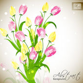 Beautiful floral background with space for your message. EPS 10. — Vector de stock