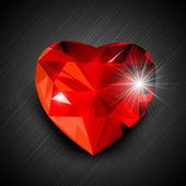 Red Valentine Heart. EPS 10. — Stock Vector