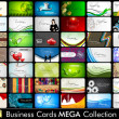 Mega collection of 42 abstract professional and designer busines — Vetor de Stock  #11859879