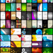 Mega collection of 60 abstract professional and designer busines — Vetor de Stock  #11859935