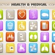 Medical icons set isolated on grey background. EPS 10 — Stock Vector