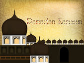 Ramadan kareem fundo mesquita ou masjid. eps 10. — Vetor de Stock