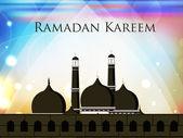 モスクまたは masjid のラマダン カリーム背景。eps 10. — ストックベクタ