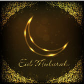 EId Mubarak background with shiny moon. EPS 10. — Stock Vector