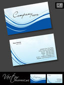 Professional business cards, template or visiting card set. Blue — Stock Vector