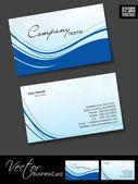 Professionelle visitenkarten, vorlage oder visitenkarte einrichten. blau — Stockvektor