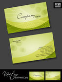 Professional business cards, template or visiting card set. Gree — Stock Vector