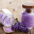 Lavender salt — Stock Photo