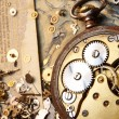 Royalty-Free Stock Photo: The gears on the old banknote