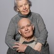 Portrait of a happy senior couple embracing each other — Stock Photo #12352714