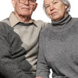 Portrait of a happy senior couple embracing each other — Stock Photo #12352719