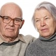 Portrait of a senior couple — Stock Photo
