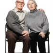 Portrait of a happy senior couple embracing each other — 图库照片