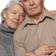 Portrait of a happy senior couple embracing each other — Stock Photo