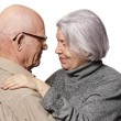 Portrait of a happy senior couple embracing each other — Stock Photo #12352745