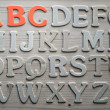 Stock Photo: English alphabet background