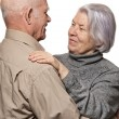 Portrait of a happy senior couple embracing each other — Stock Photo #12352759