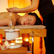 Beautiful woman having a massage — Stock Photo