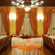 Tables set for a wedding - Stock Photo