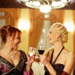 Two attractive lady on a party - Stock Photo