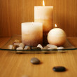 Stock Photo: Beautiful candle design
