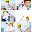 Building architecture collage - Foto Stock