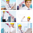 Building architecture collage - Stockfoto