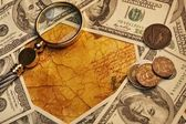 American dollars with a lope on it — Stock Photo