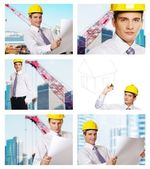 Building architecture collage — Stock Photo
