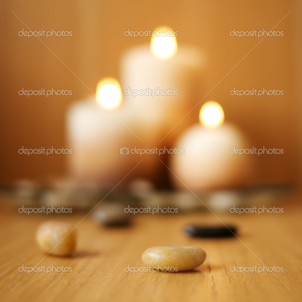 Blurred candles — Stock Photo #12352987