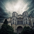 Stock Photo: Stormy sky over The Cathedral of the Incarnation, Malaga, Spain