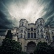 Stormy sky over The Cathedral of the Incarnation, Malaga, Spain — Stock Photo