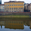 Royalty-Free Stock Photo: Buildings on the bank of Arno river in Florence, Italy
