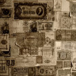 Stock Photo: Vintage banknotes wallpaper