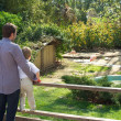 Dad with his son in a zoo - 