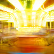 Merry-go-round in motion blur — 图库照片