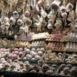 Christmas decorations for sale - Zdjęcie stockowe