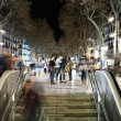 View of La Rambla in evening - Stock Photo