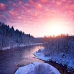 kış manzara güzel nehir — Stok fotoğraf