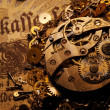 The gears on the old banknote — Stock fotografie