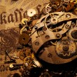 The gears on the old banknote — Stock Photo #12373686